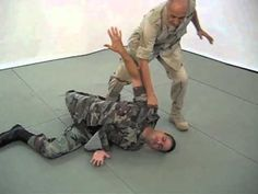 Self defense. Martial arts. Combat Hapkido Defense Against a Throat Grab