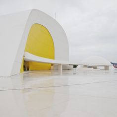"Centro Niemeyer ""An open square to the #humankind, a place for #education, #culture and peace"" #designed by #architect Oscar Niemeyer."
