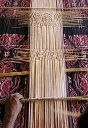 Weaving in Sumba.