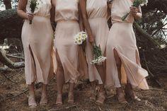 Rose bridesmaid dres