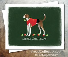 American Foxhound Dog Christmas Card Collection - Digital Download