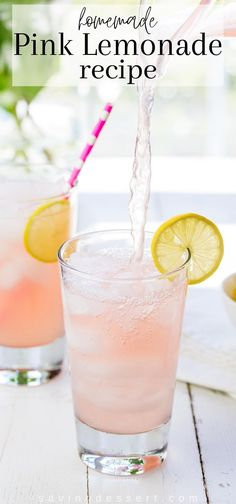 Pink Lemonade ~ bright, tart and lightly sweet, this lovely pink hued summer beverage is very refreshing and super easy to make! #lemonade #homemadelemonade #lemonrecipe #summerbeverage #pinklemonaderecipe #pinklemonade #homemadepinklemonade #healthysummerdrink Pink Lemonade Recipes, Homemade Lemonade, Kitchen Recipes, Gourmet Recipes, Dessert Recipes, Donut Recipes, Appetizer Recipes, Free Recipes, Cooking Recipes