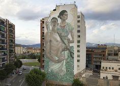 "Aryz – ""Príap i Demèter"" New Mural in Granollers"