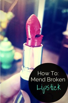 Have you ever broken a lipstick from leaving in the car too long? This is a super easy trick to mend your broken lipstick back to normal! Beauty Tips And Secrets, Beauty Advice, Beauty Hacks, Beauty Stuff, Beauty Ideas, Makeup Needs, Love Makeup, Beauty Makeup, Homemade Beauty Recipes