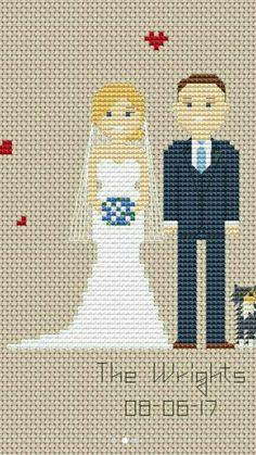 Sposi punto croce Wedding cross stitch