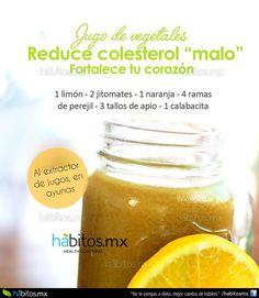 "Hábitos Health Coaching | Jugo de Vegetales REDUCE COLESTEROL ""MALO"""