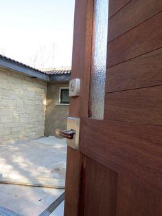 Courtyard gate with interior courtyard under construction