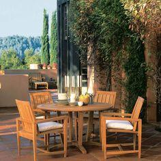 Kingsley-Bate Amalfi 4-Seat Round Dining Set