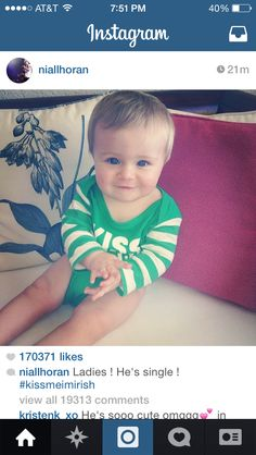 theo is such a cutie,  he will get all the ladies once he's older ,it runs in his family Genes.