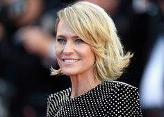 Robin Wright at the 70th annual Cannes film festival at Palais des festivals on May 17, 2017 in Cannes, France.