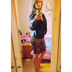 Falling more in ❤️ with our Leopard Scuba. Falling more in ❤️ with customer selfies! #SKIRTIT