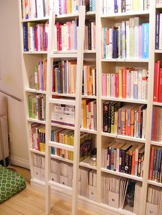 """library ladder for """"built-in"""" IKEA bookcases. TOO CUTE"""