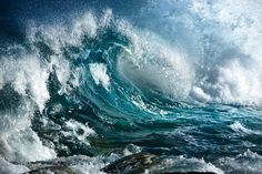 A roaring wave .....