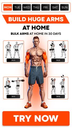 MadMuscles.com - personalized workouts for men. Take a quiz to pick a workout according to your goals and body parameters🔥 Training programs include exercises for arms, abs, core muscles. With or without equipment. Visit the site to start your body transformation! Fitness Workouts, Exercise Fitness, Gym Workouts For Men, Workout Plan For Men, Workout Routine For Men, Weight Training Workouts, Weight Training Programs, Basketball Workouts, Body Training