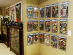 """Another satisfied guest loving ComicMount! NEW """"Two in One"""" comic book and collectible display that can be used as either a Wall Mount or Shelf Stand. Finally a low cost affordable way to start displaying all of your collectibles and comic books. Great for CGC books! www.comicmount.com"""
