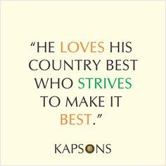 Pledge to make India the best Everyday.... #HappyIndeprndenceDay #Kapsons #CelebrateFreedom