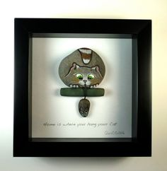 Home is where you hang your cat. . 6x6 shadow box by qvistdesign