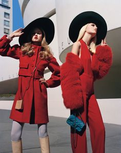 fromobscuretodemure:    Daphne Groeneveld and Lindsey Wixson by Alasdair McLellan for W August 2011.