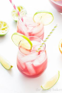 This pretty pink drink is the result of combining two beloved cocktails: margaritas and sangria. Sip slow on this sweet, yet tart, treat though -- the tequila and wine combo is not to be messed with. Recipe: One Sweet Mess   - CountryLiving.com