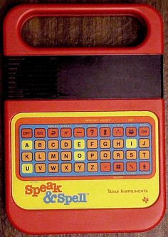 "Definitely had one of these, and a gray/blue one called ""Speak & Math"".  I loved the voice."