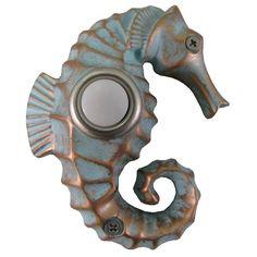 Seahorse Doorbell - perfect for coastal decor or beach house! Coastal Cottage, Coastal Homes, Coastal Style, Coastal Living, Coastal Decor, Coastal Farmhouse, Coastal Furniture, Beach Homes, Beach Condo