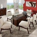 mesa para sala de jantar com 6 cadeiras