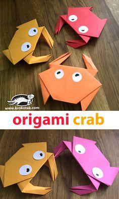 DIY Project, Craft Ideas, Fun Origami Crab by: krokotak Origami Star Box, Origami Fish, Origami Folding, Paper Folding, Paper Crafts Origami, Origami Art, Paper Crafting, Geometric Origami, Oragami
