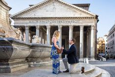 Romantic and Unique Roman Pantheon Proposal photography from Rome Italy. Image taken by the Andrea Matone photographer studio Proposal Photography, Proposal Photos, Wedding Photography Poses, Wedding Poses, Wedding Couples, Proposal Ideas, Wedding Ideas, Wedding Proposals, Marriage Proposals