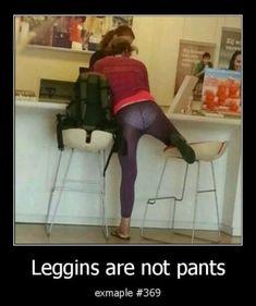 Leggins are not pants