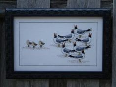 """""""Laughing Gulls"""" is the title of this cross stitch pattern from R K Portfolio."""