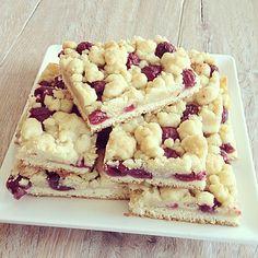 Streuselkuchen mit Kirschen - vegan und glutenfrei (Rezept mit Bild) | Chefkoch.de