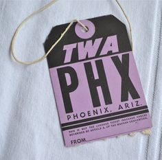 Your place to buy and sell all things handmade Vintage Luggage Tags, Luggage Labels, Pencil Writing, Phoenix Arizona, Purple And Black, Vintage Airline, Memory Foam, Flight Attendant, Geek Stuff