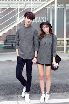 Spring and autumn couple clothes Korean style shirt for men CC00914 - Yaaku.com