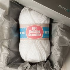 personalised 'get knitting' new baby wool by percy and nell | notonthehighstreet.com