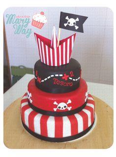 MaryWay Ilustratartas : Tarta comunión pirata Pirate Birthday, 4th Birthday, Birthday Parties, Birthday Cake, Ideas Decoracion Cumpleaños, Birthday Decorations, Cake Pops, First Birthdays, Cupcake Cakes