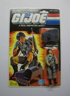 G.I.JOE 1986 MAINFRAME MOC C8+/C9  MOMC MIP MIB MISB FREE SHIPPING!! #Hasbro