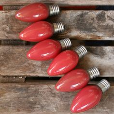 mauve set light bulbs home decor vintage $8