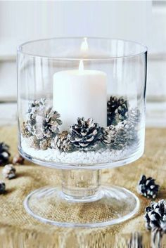 Charming Winter Wedding Decorations ❤ See more: http://www.weddingforward.com/winter-wedding-decorations/ #weddings