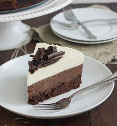 Triple Chocolate Mousse Cake by Tracey's Culinary Adventures