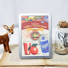 eBay | 7321 Interior Decorative Adhesive Sticker_Vintage Label Collection + Tin Case