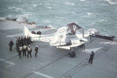 De Havilland Sea Hornet NF21 VW957 of 809 Squadron aboard HMS Eagle April 1954