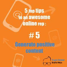 Top Tip Number 5 Online Reputation