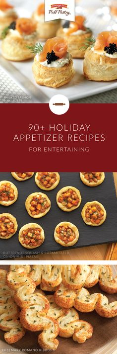 A good hostess appreciates the art of entertaining. That's why we're offering this collection of holiday appetizer recipes from Puff Pastry so you can entertain your friends and family with ease. Explore different dishes like Prosciutto Asparagus Spirals, Pulled Pork and Coleslaw Bundles, and Roasted Turkey Pot Pie to find the ultimate addition to your holiday menu.
