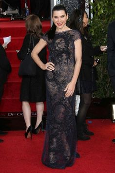 Julianna Margulies was 100% badass in her plunging, backless, and beaded Pucci gown.