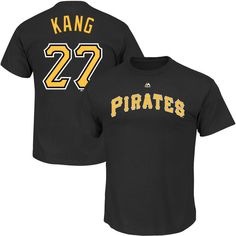Jung Ho Kang Pittsburgh Pirates Majestic Youth Player Name & Number T-Shirt - Black - $13.99