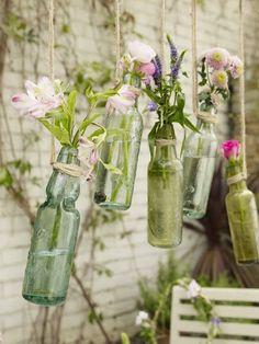 Hanging flower bottles vases #Anthropologie #PinToWin