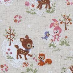 Google Image Result for http://blog.modes4u.com/images/Japanese-Fabrics-Winter-201011/cute-deer-squirrel-bunny-Kokka-linen-fabric-160206-1.jpg