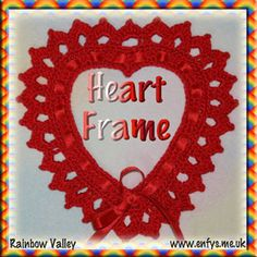 Crochet a Valentine Heart Frame with this free pattern.