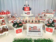 10th Birthday Parties, 12th Birthday, Man Birthday, Birthday Ideas, Lego Ninjago, Bob Marley Birthday, Youtube Birthday, Youtube Party, Diy Party