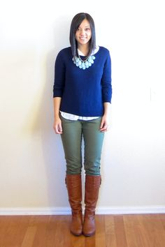 Navy, Olive, and Mint - Putting Me Together